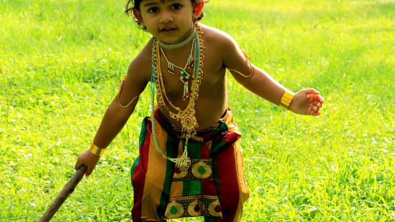 Krishnashtami Special Get Up, Cute Babys Krishna Get Up