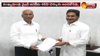 Bharathi Cements Donates Rs 5 Cr to AP CM Relief Fund | Sakshi TV