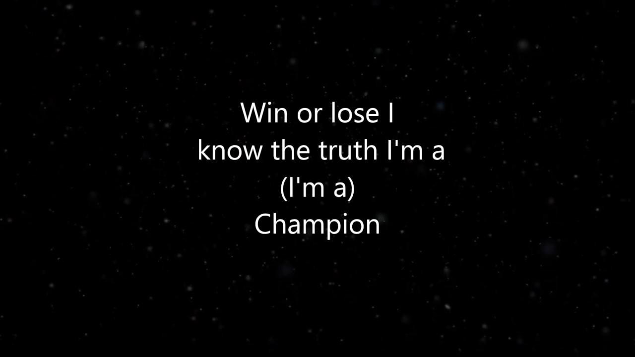 Deep Motivational Rap Song Champion Lyrics