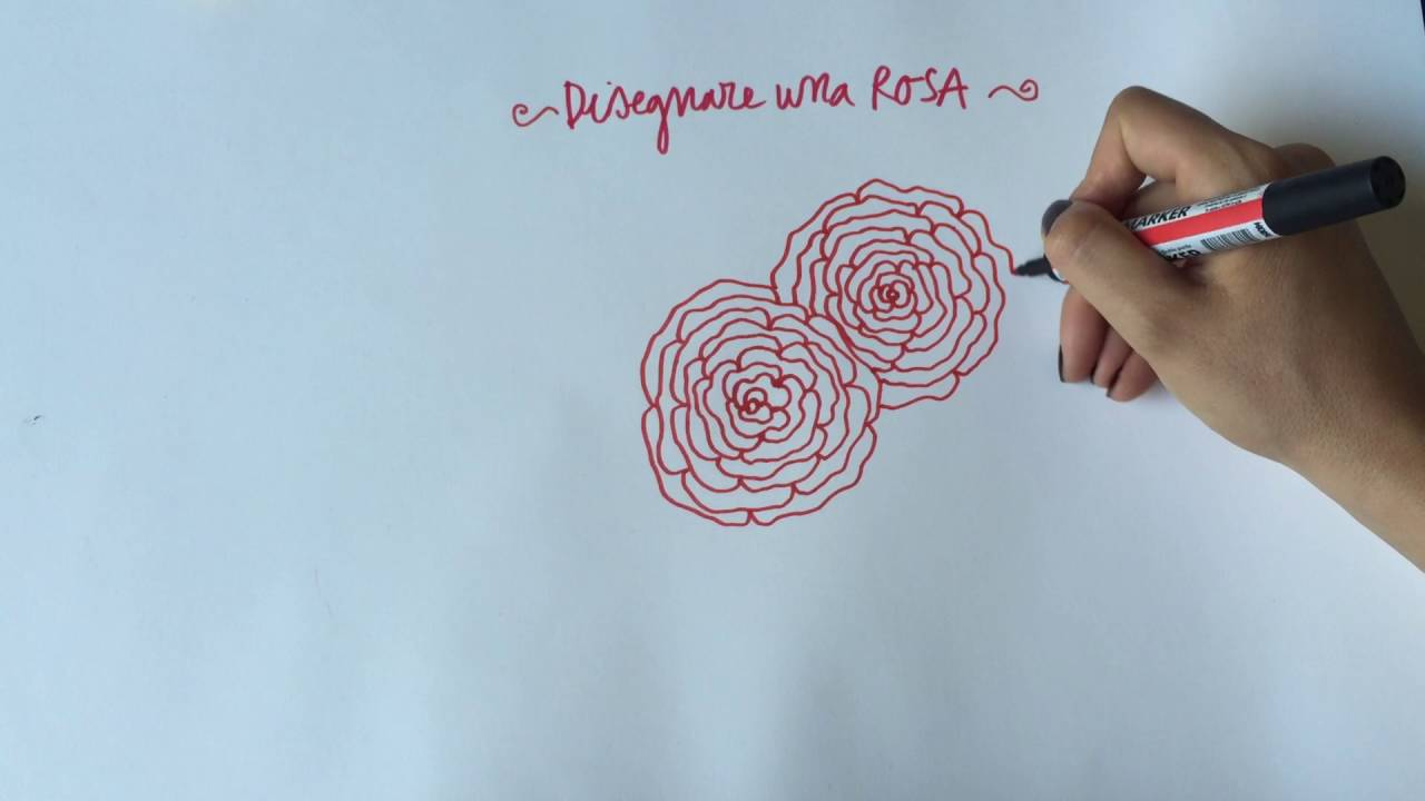 Bien-aimé Come disegnare una rosa - YouTube CX72