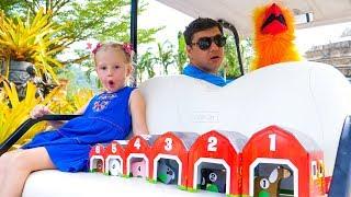 Настя и папа - приключения в зоопарке