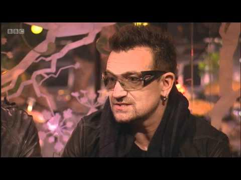 U2 talk to the BBC after their Glastonbury headline set