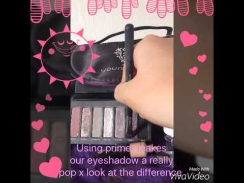 Younique primer demo by Laura Greenwood