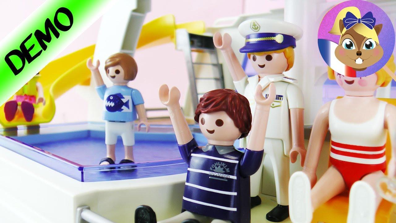 famille qui part en vacances playmobil bateau de croisi re d mo 6978 family fun youtube. Black Bedroom Furniture Sets. Home Design Ideas