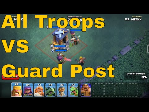 Guard Post Lvl 8 Max VS All Troops In Clash Of Clans Builder Base