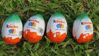 Kinder Ovo Natoons Abrindo Ovos Supresa Natoons Eggs Surprise Eggs Huevos Sorpresa Animals Animais