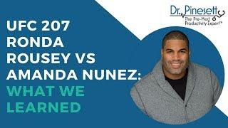 UFC 207 Ronda Rousey Vs Amanda Nunez: What We Learned