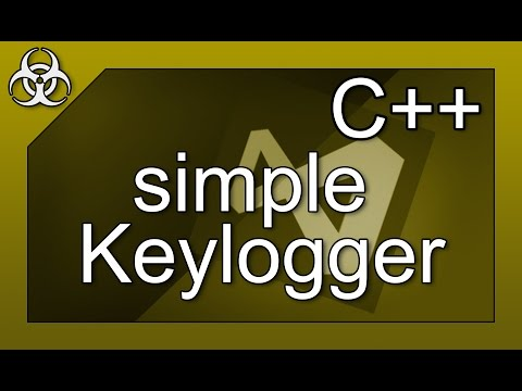 simple Keylogger Virus with Hidden Window and Log C++ Tutorial Visual Studio