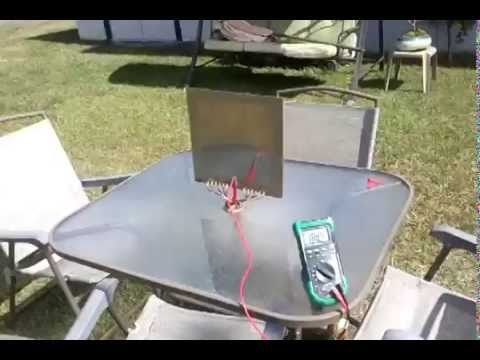 Tesla plate antenna