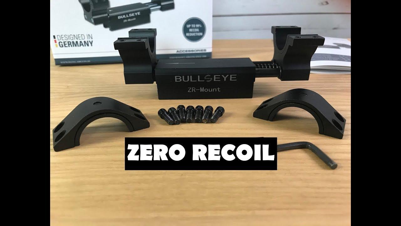 Bullseye zero recoil zielfernrohr montage vorstellung und