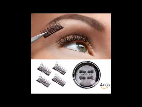 05eb46e7aff VASSOUL Dual Magnetic Eyelashes 0 2mm Ultra Thin Magnet Lightweight & Easy  to Wear Best 3D Reusable