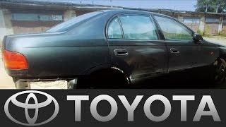 Toyota Carina заміна арки, ремонт згнилої двері