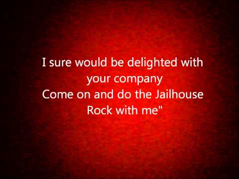 Elvis Presley - Jailhouse Rock (lyrics)