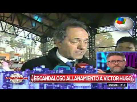 Polémica por el allanamiento en la casa de Víctor Hugo Morales