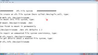 RHEL 7 Create, mount, unmount, and use vfat, ext4 and xfs file systems