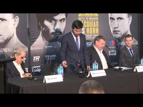 'AUSTRALIAN PRESIDENT GREETS MANNY PACQUIAO - as they gather in Melbourne to meet the press' 27/4/17