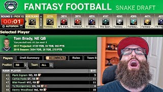 ESPN Fantasy Football Draft 2017 Free HD Video