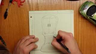 How to draw Worms cartoon character.