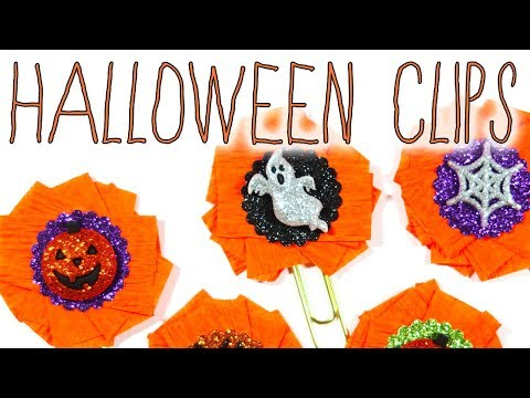 #CREEPYCRAFTYDAYS // Halloween Paperclips for Planners, Travelers Notebooks, Happy Mail