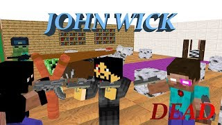 Monster School : JOHN WICK - RIP HEROBRINE - Minecraft Animation