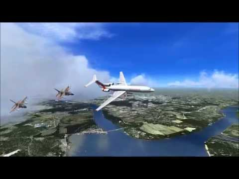 Tu-154M along with F16 and farewell, kpt. zpool, FSX