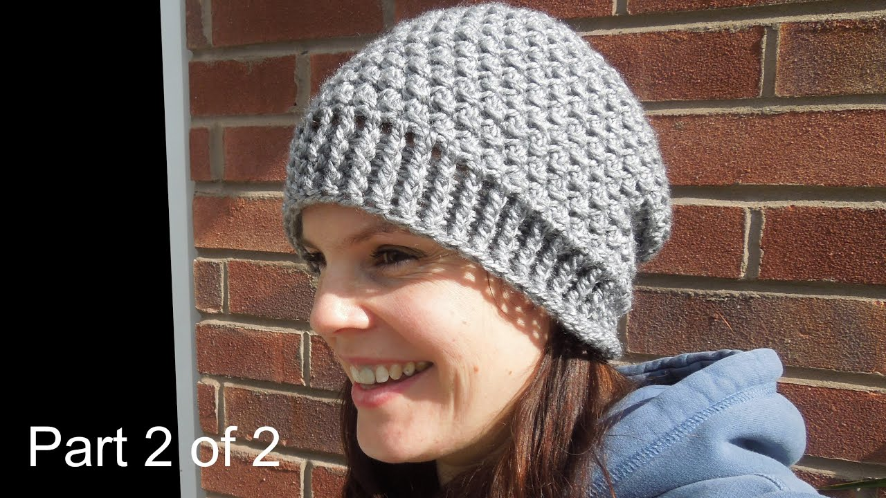 3d74000737a (crochet) Pt2  How To Crochet my Cluster Slouchy Beanie - Yarn Scrap Friday