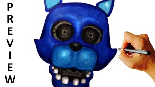 How to draw Candy cat from FNaF fan game FNaC easy drawing lesson video preview