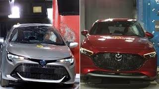 2019 Mazda 3 vs 2019 Toyota Corolla – Crash tests
