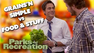 Grain'n Simple Vs Food and Stuff - Parks and Recreation   Comedy Bites