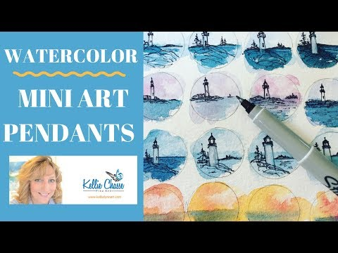 Watercolor Miniature Art - Make Your Own Fashionable and unique wearable art!
