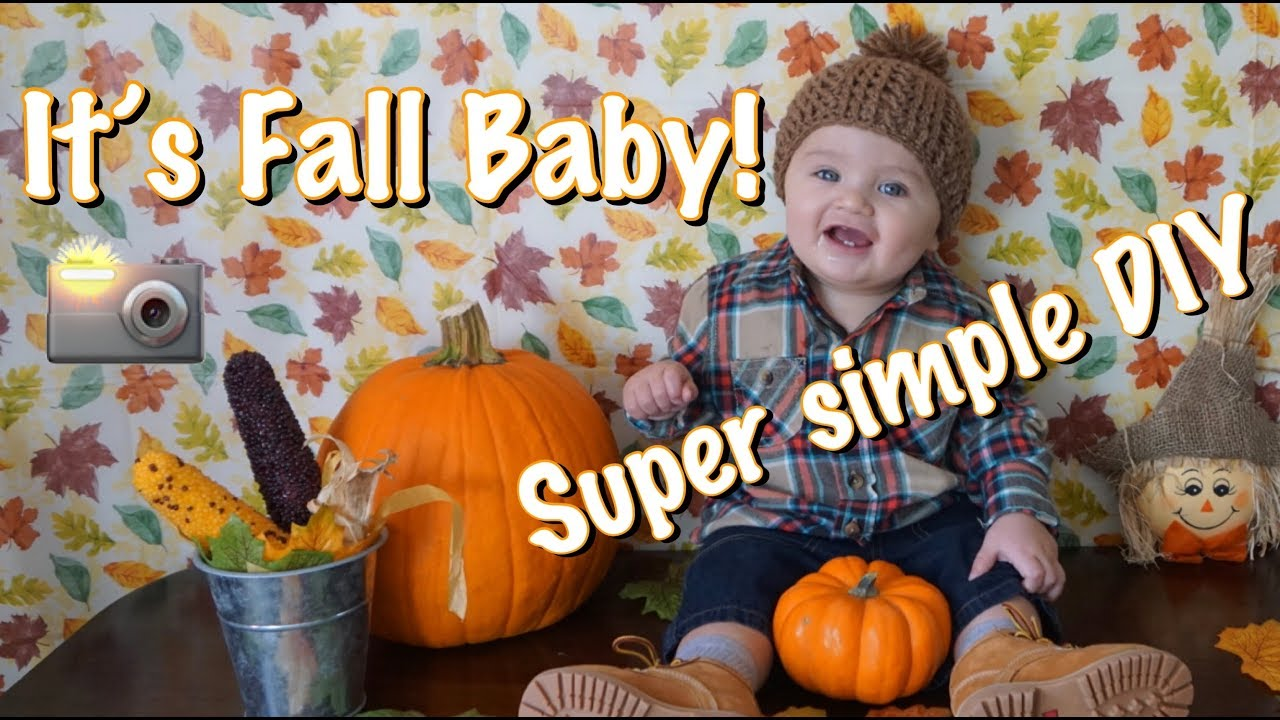 Diy baby fall photoshoot super affordable