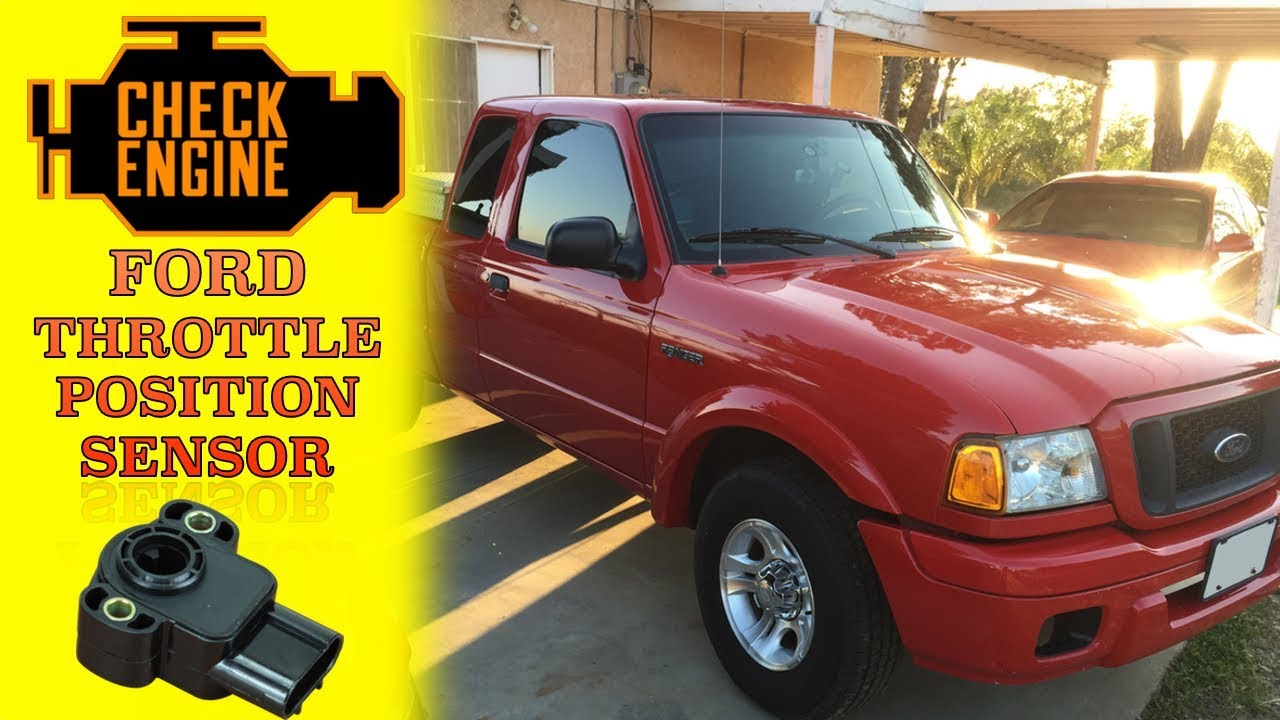 DIY replace throttle position sensor 2004 ford ranger - YouTube on