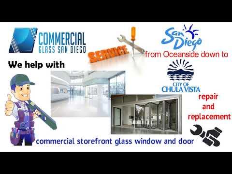 Commercial Glass San Diego - Storefront Windows Door Replacement