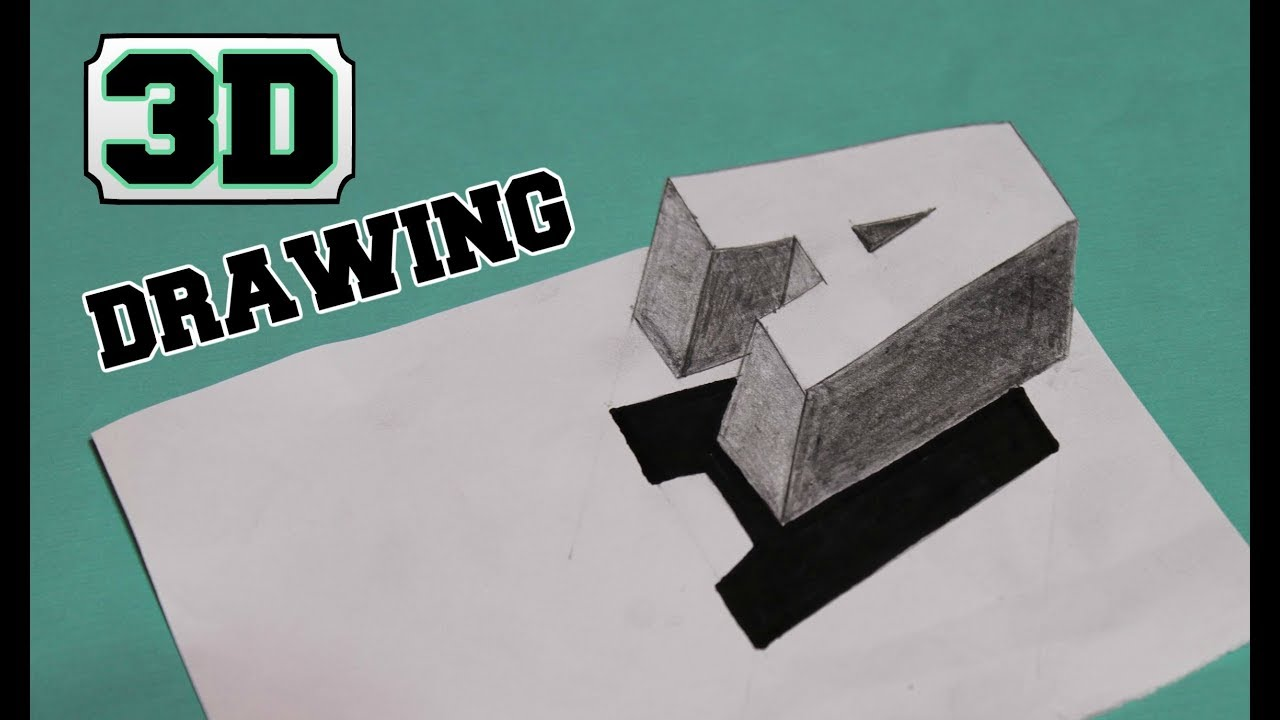 Kako Nacrtati 3d Slovo A 3d Drawing Youtube