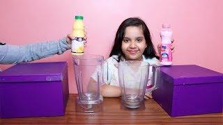 تحدي صندوق الغامض بالميلك شيك !! مقلبناها بكت ! MYSTERY BOX of Milkshake  CHALLENGE