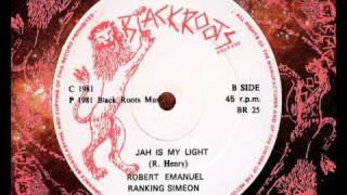 "Robert Emanuel & Ranking Simeon - Jah Is My Light 12"" (B)   1981"