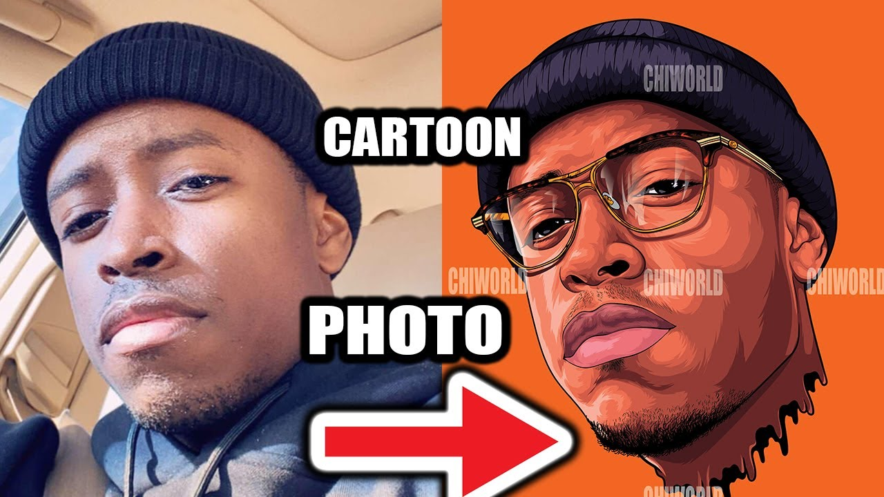 Turning A Picture Into A Cartoon 2020 Adobe Illustrator Youtube