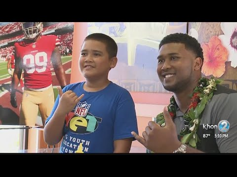49ers' Buckner returns to Waianae with special announcement, donation