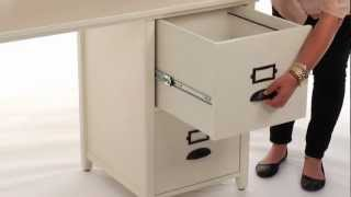 Organize Files And Folders With This Stylish File Cabinet Desk | Pbteen