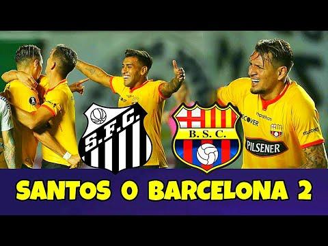 Santos 0 Barcelona 2 RESUMEN GOLES Copa Libertadores 2021