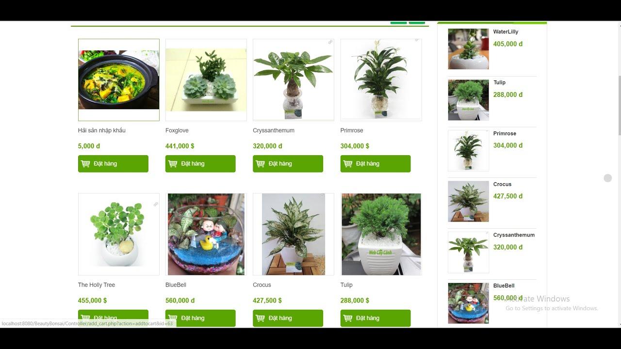 Hướng dẫn đọc hiểu báo cáo đồ án website  bán cây cảnh online php mô hình mvc 2020