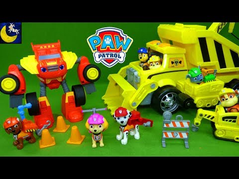 Paw Patrol Construction Ultimate Rescue Toys Rubble Vehicle NEW Collection Set Unboxing Toy Video!