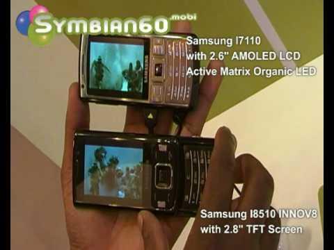 Samsung I7110 vs Samsung I8510 INNOV8 Display Comparison