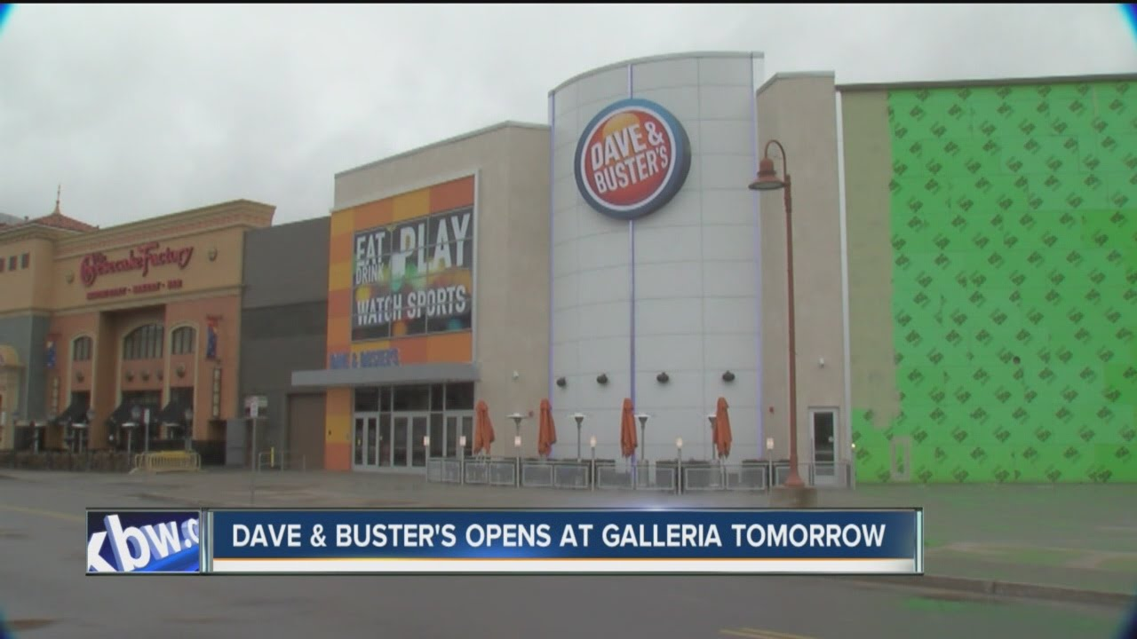 Dave buster 39 s set to open at the walden galleria youtube for K kitchen company cheektowaga ny