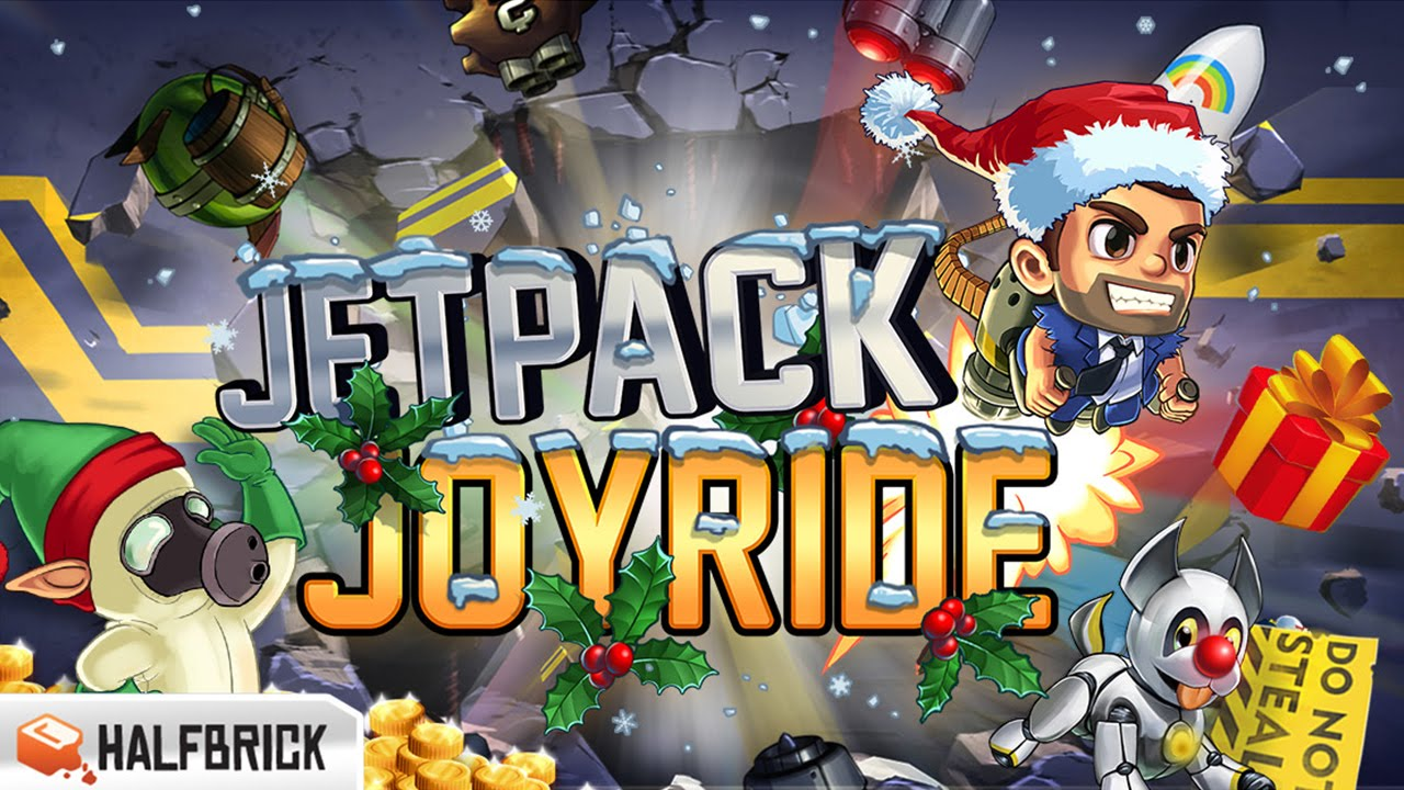 Jetpack Joyride - NEW Christmas Update - Best App For Kids - YouTube