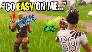 I pretended to be a mobile Fortnite player so people would go easy on me... (IT WORKED!)