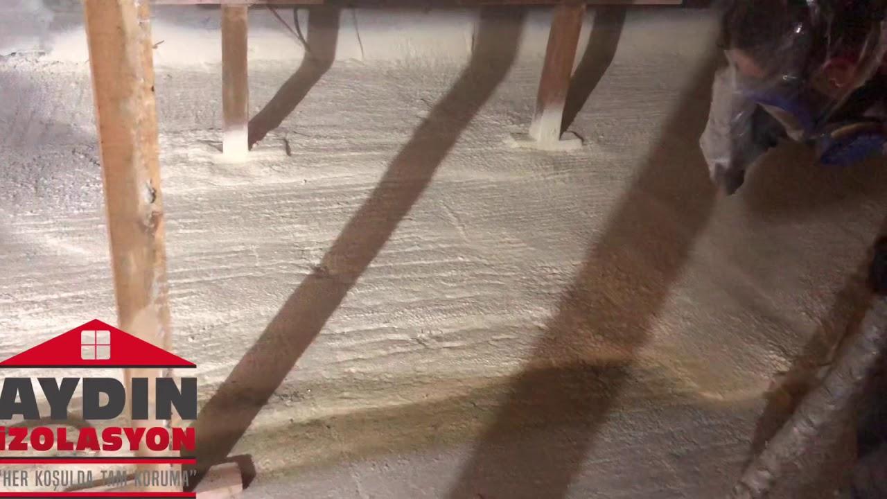 Sıkma Köpük Sprey Poliüretan Çatı İzolasyonu #sıkmaköpük  #spreypoliüretanköpük #çatıizolasyon - YouTube