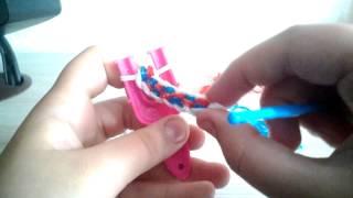 Плетение из резиночек:-)урок 7 :-):-):-)
