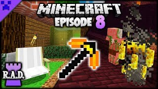 AUTO-SMELT Pickaxe & FORTRESS! | Roguelike, Adventures & Dungeons Mod Pack (Minecraft Survival) #8