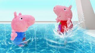 Свинка Пеппа на русском. Смотрим, как Джордж учится плавать, а Пеппа собирается в ДЕТСКИЙ ЛАГЕРЬ!